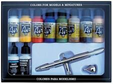 Vallejo 71.167 - Colour Kit Basic + Airbrush Gun - New