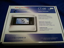 2GIG CT100 Z-Wave Thermostat (Touch Screen w/ Backlight & Programmable Schedule)