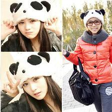 Cute Girl Cartoon Animal Panda Bear Beanie Winter Fitted Soft Hat Gift Warm