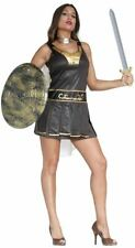 Womens Gladiator Spartan Roman Warrior Fancy Dress Costume Ladies Outfit