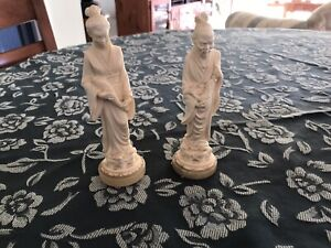 a giannelli Asian sculptures Lady With Carp Man With Carp
