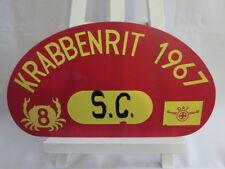 1967 Krabbenrit Car Club Rally Plate Plaque Sign - DAF Advertising #8 Crab