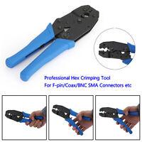 Professional Hex Crimping Tool for F-pin/Coax/BNC SMA Connectors RG Types