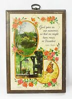 Hallmark plaque farm house on lake picture wood vintage wall decor home decor