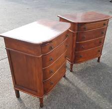 Pair of Theodore Alexander Alderwood Chests with Writing Pull-Out