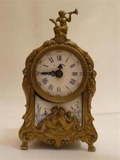 Pendule pendulette cartel aux naïades Louis XV Bronze 19ème