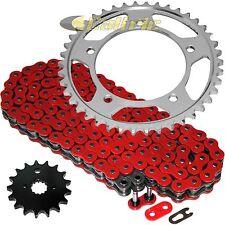 Red O-Ring Drive Chain & Sprockets Kit Fits SUZUKI GSX-R1000 GSXR1000 2001-2006