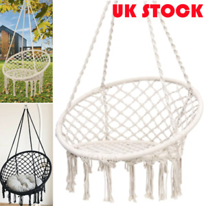 Portable Hammock Hanging Rope Chair Swing Seat Garden Patio Camping Outdoor NEW