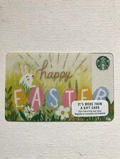 STARBUCKS CARD - HAPPY EASTER 2016 - RABBIT BUNNY - COLORFUL EGGS NEW NO VALUE