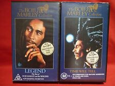 BOB MARLEY TIME WILL TELL & LEGEND 2 VHS VIDEO TAPES HARD TO FIND RASTA REGGAE