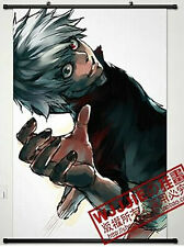 Home Decor Anime Tokyo Ghoul Wall Scroll Poster Fabric Painting Ken Kaneki wj013