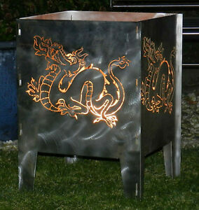 Feuerkorb Drache 400 x 400 Serie Coybo Feuerschale Gartenfeuer Feuerstelle
