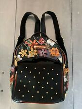 Nicole Lee Backpack Hand Bag Floral Black Studs Gold Red Green White S M CUTE