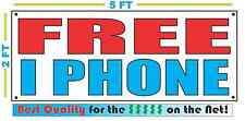 FREE IPHONE Banner Sign NEW larger Size Best Quality for The $$$ CELL