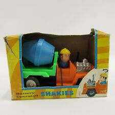 """Vintage Shakies Cement Mixer Toy Creative Creations Plastic Truck 5"""" NEW MIB"""