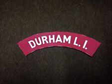 Durham Light Infantry reproduction printed badges WWII Battledress