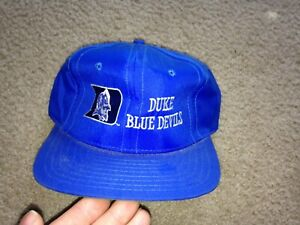 Vintage Bacon & Co. Duke Blue Devils Nylon Strapback Hat NWT