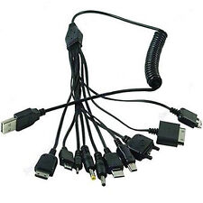 USB Cable Universal 10 in 1 Multifunction Cell Phone Charger Cord Charging
