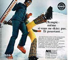 Publicité Advertising 1972 Les Vetements de ski Olympic