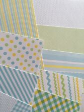 """BABY BOY PASTELS Card Stock(9pc,18 Patterns)6""""x6""""Double-Sided•Strips•Dots •Spots"""