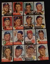 1953 - TOPPS - BASEBALL - CARDS - LOT - (16) - ORIGINAL