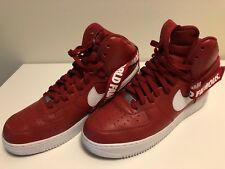 Supreme Air Force 1 14fw World Famous Red Size 10 100% Authentic