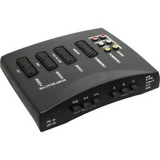 Scart Switch 4 Port + RCA Audio + Video support