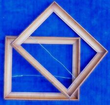 "PAIR Matching Antique Frames Wonderful Birdseye Maple Cove Fits 8 1/4"" X 10"""