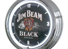 N-0238 Jim Beam - Deko Retro Neon Uhr Clock Wanduhr Neonuhr Neonclock Werkstatt
