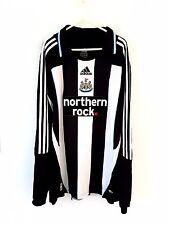 Newcastle United Home Shirt 2007. XL. Adidas. Black Adults Utd Long Sleeves Top.