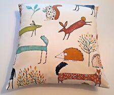 Scandi Cushion Cover Deer Animal Fabric Fox- Hedgehog