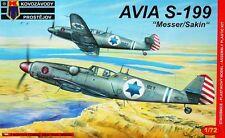 Avia S-199 sakin/Messer (israelí AF/IDF MKGS) #6 1/72 KP/Kovozavody Prostejov