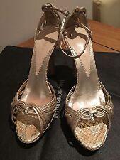 Beautiful Armani Gold Piton Leather Shoes, Size 37.5-38 (UK4.5 -5)