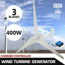 12V 3 Fiber Blades Horizontal Axis Small-sized Wind Turbine Generator 400W