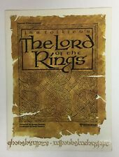 Rare! 1978 The Lord Of The Rings Animated Movie Promo Fold-Out Ralph Bakshi