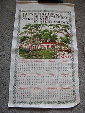 Vintage CalendarTea Towel 1970  Bless This House Prayer