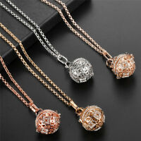 Crystal Rhinestone Pendant Necklace Long Chain Sweater Necklace Women Jewelry