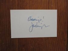 """JON  VOIGHT (""""Coming  Home/Deliverance/The  Champ/Ali"""") Signed  3 x 5 Index Card"""