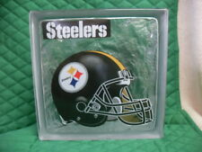 NICE!!!! Pittsburgh Steelers 8 X 8 Glass Block Ready for Lights #2355