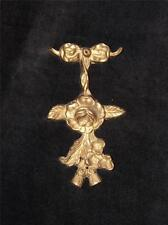 Heavy Ornate Solid Brass Floral Wall Hanging Ornament Plaque From India