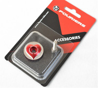 FOURIERS Cycling MTB Bike Aluminum CNC Stem Top Cap Cover Headset Red Cover 15g