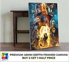 Marvel Avengers Collage Movie Large CANVAS Art Print Gift Multiple Sizes