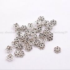 100Pcs Tibetan Silver/Gold/Bronze Flower Spacer Bead Caps Jewelry Findings