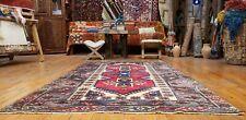 "Bohemian Antique 1945's Natural Dye Wool Pile Dosemealti Area Rug 4'x6'6"""