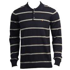 VOLCOM Men's Navy Blue Striped Friday Night Sweater, Size M