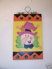 Wood Halloween Witch Trick Or Treat Decoration