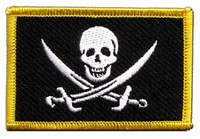 Pirate with two swords Flag EMBROIDERED PATCH 8x6cm Badge