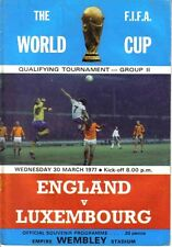 Football Programme>ENGLAND v LUXEMBOURG Mar 1977