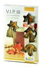 Birkmann Tassenkeks Ausstecherformen 4tlg Weihnachtsmotive mit Rezeptheft 4-7 cm