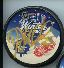 DREW MILLER DETROIT RED WINGS SIGNED 2014 WINTER CLASSIC PUCK w/ COA
